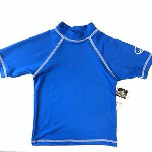 First Wave Swim Boys Blue Shirt 50+ UV Guard